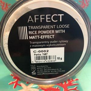 Affect Makeup - Affect Transparent Loose Rice Powder Matt-effect